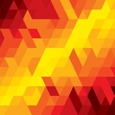Abstract Colorful Of Diamond, Cube And Square Shapes-smarnad-Art Print