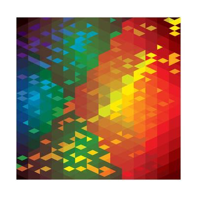 Abstract Colorful Of Geometric Shapes-smarnad-Art Print