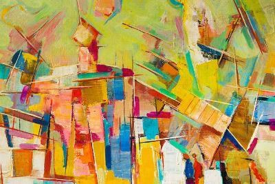Abstract Colorful Oil Painting on Canvas-Gurgen Bakhshetyan-Photographic Print