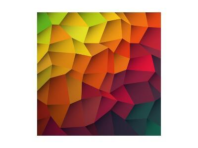 Abstract Colorful Patches Background-pashabo-Art Print