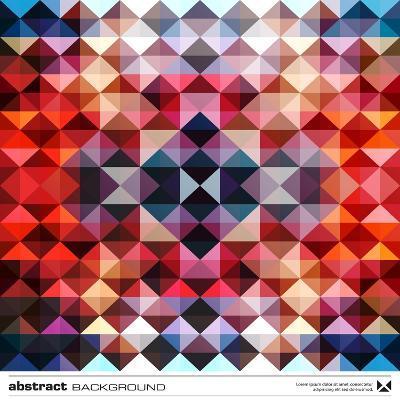 Abstract Colorful Triangles-adistock-Art Print