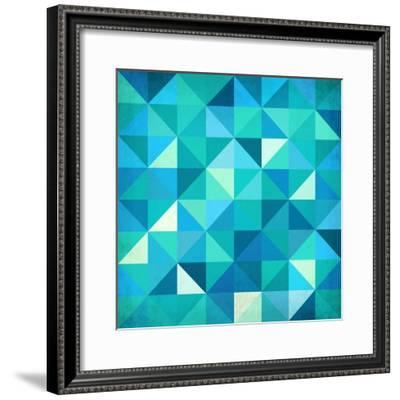 Abstract Colorful Triangles-art_of_sun-Framed Premium Giclee Print