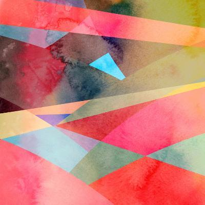 Abstract Colorful Watercolor Background-tanor27-Art Print