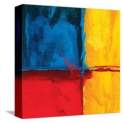 Abstract Composition in Blue-Carmine Thorner-Stretched Canvas Print