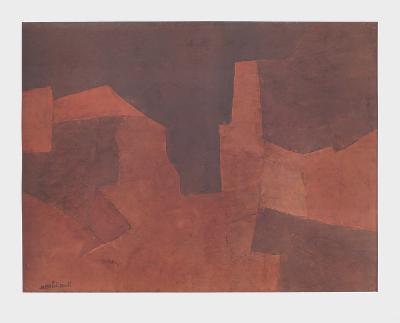 Abstract Composition, Maroon-Serge Poliakoff-Collectable Print