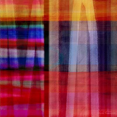 Abstract Cross Lines II-Joost Hogervorst-Art Print