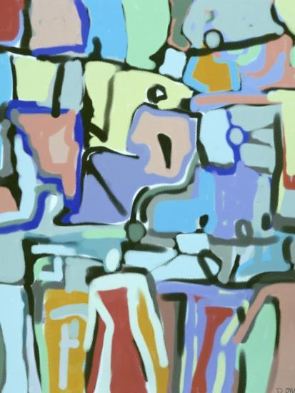 Abstract Crowd-Diana Ong-Giclee Print