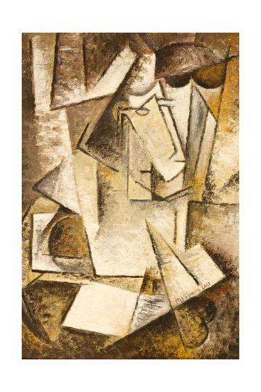 Abstract Cubism Oil Painting- mullrich-Art Print