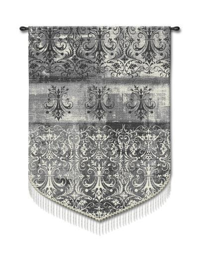 Abstract Damask, Pearl Mist--Wall Tapestry