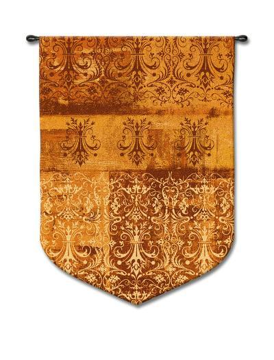 Abstract Damask Persimmon--Wall Tapestry