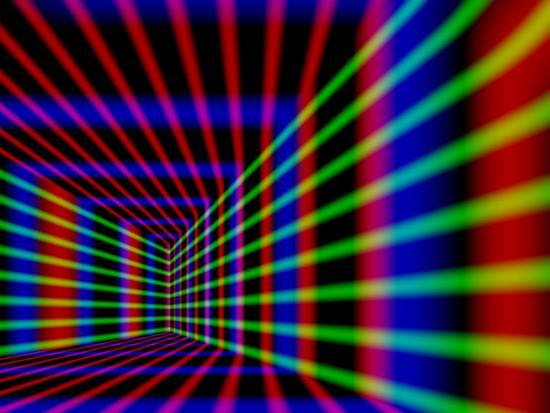 Abstract Design With Blue Red And Green Laser Like Lines On Black Background Photographic Print By Albert Klein Art Com