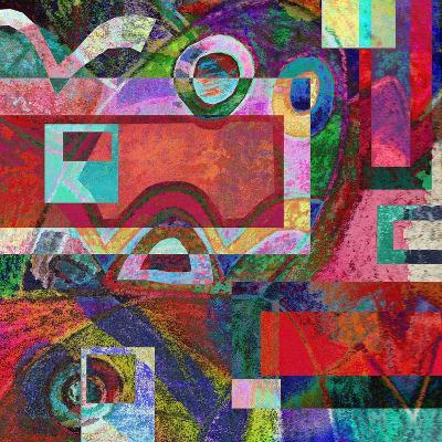 Abstract Digital Painting, Colorful Graffiti Collage-Andriy Zholudyev-Art Print
