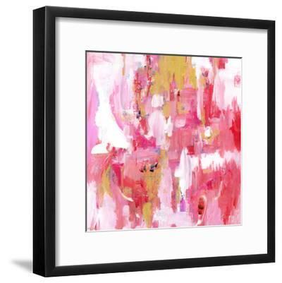 Abstract Dream Pink Gold-Pamela J. Wingard-Framed Art Print