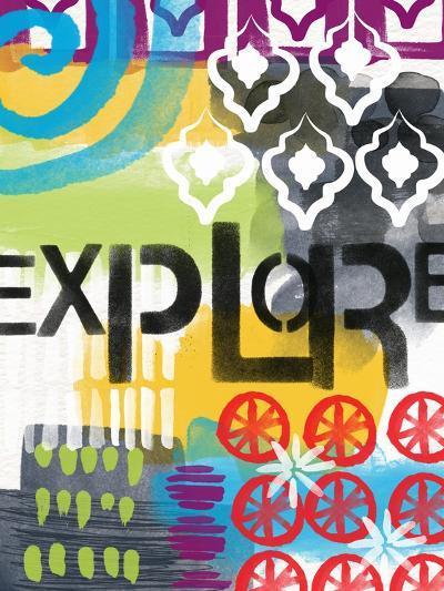 Abstract Explore-Linda Woods-Art Print