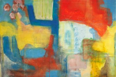 Abstract Expressionist in Red, Yellow and Blue-English School-Giclee Print