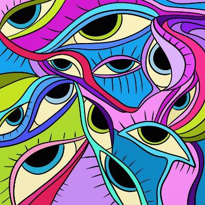 Abstract Eyes-goccedicolore-Art Print