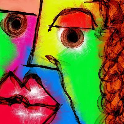 Abstract Face Painting-prawny-Art Print
