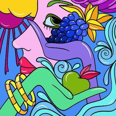 Abstract Fantasy with Fruit-goccedicolore-Art Print