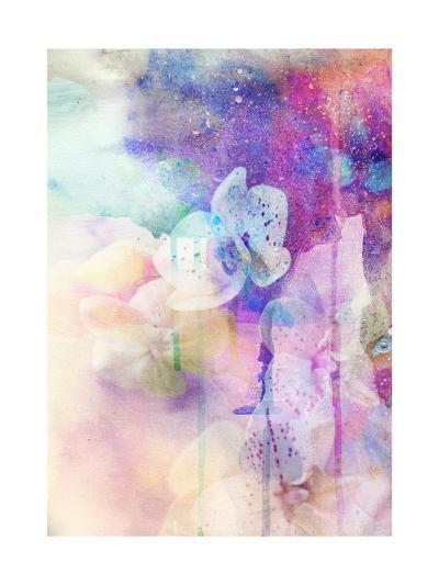 Abstract Floral Background- Watercolor Grunge Texture-run4it-Art Print