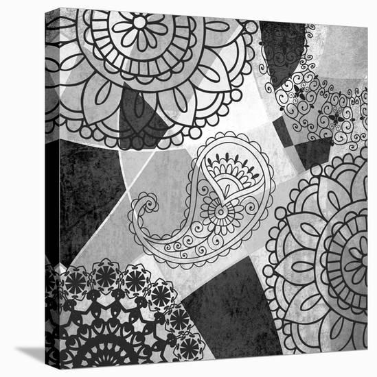 Abstract Floral Pattern-Irena Orlov-Stretched Canvas Print