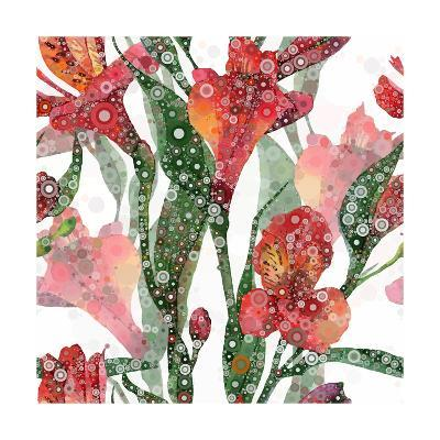 Abstract Floral Pattern-mika48-Art Print