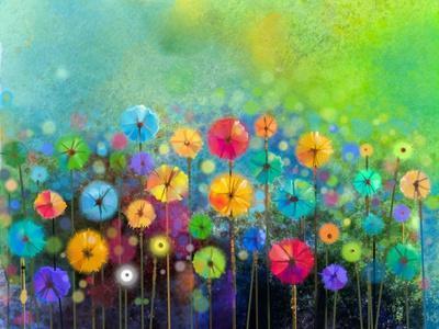 Original Art Hand Painted Custom Floral Watercolor Painting Flower Illustration