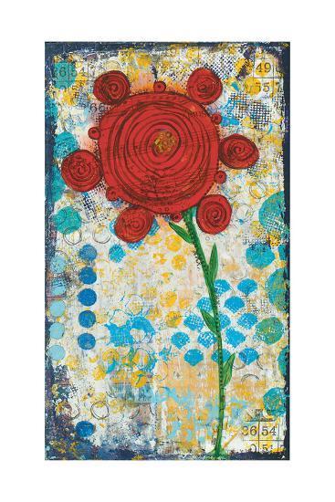 Abstract Floral-Cassandra Cushman-Art Print