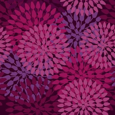 Abstract Flower Texture in Gentle Colors-Lola Tsvetaeva-Art Print