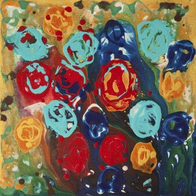 Abstract Flowers 3 - Canvas 1-Hilary Winfield-Giclee Print