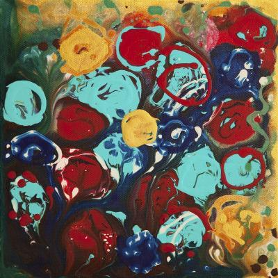 Abstract Flowers 3 - Canvas 3-Hilary Winfield-Giclee Print
