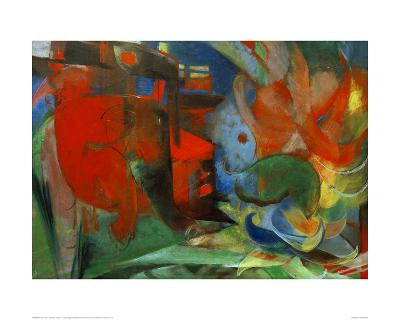 Abstract Forms II-Franz Marc-Giclee Print