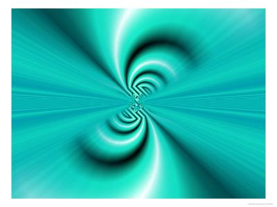 Abstract Fractal Pattern in Turquoise-Albert Klein-Photographic Print