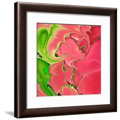 Abstract Fractals Pink And Green-Cora Niele-Framed Giclee Print