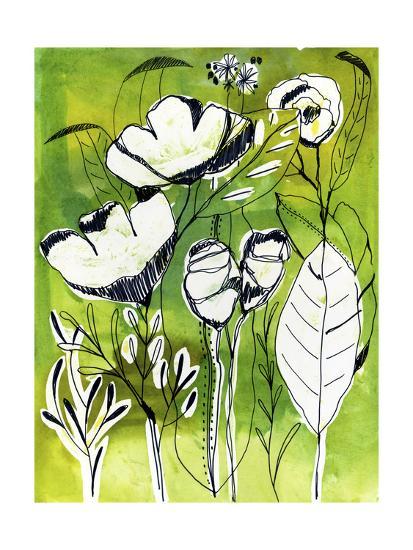 Abstract Garden-Cayena Blanca-Giclee Print