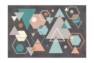 Abstract Geo I Black-Veronique Charron-Art Print