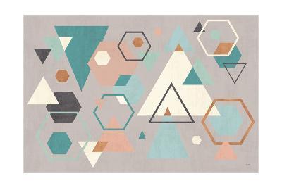 Abstract Geo I Gray-Veronique Charron-Art Print