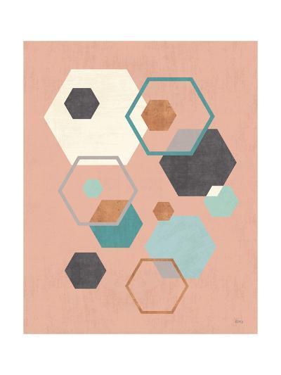 Abstract Geo III Pink-Veronique Charron-Art Print