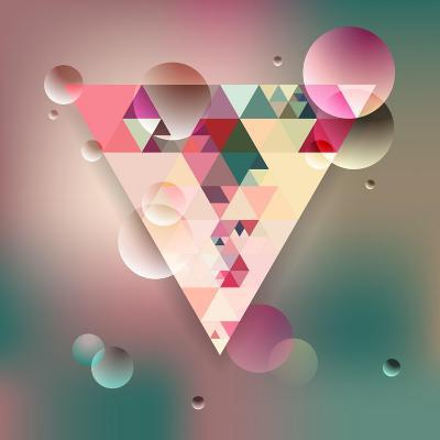 Abstract Geometric Background with Triangles. Vector Illustration Eps10.-Olha Kostiuk-Art Print