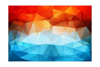 Abstract Geometric Background-Slanapotam-Art Print