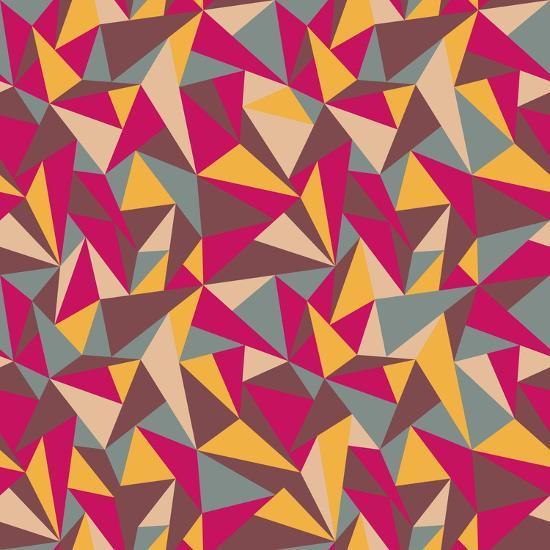 Abstract Geometric Colorful Pattern-SelenaMay-Art Print
