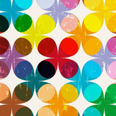 Abstract Geometric Pattern Background, Halftone, Retro/Vintage Style-Kirsten Hinte-Art Print
