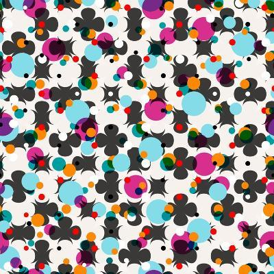 Abstract Geometric Pattern Background, with Circles-Kirsten Hinte-Art Print