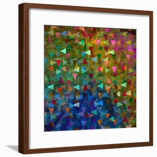 Abstract Geometric Pattern-Tanor-Framed Premium Giclee Print