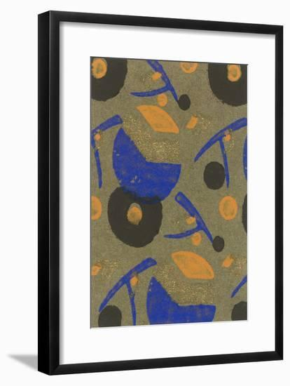 Abstract Geometric Pattern-Found Image Press-Framed Giclee Print