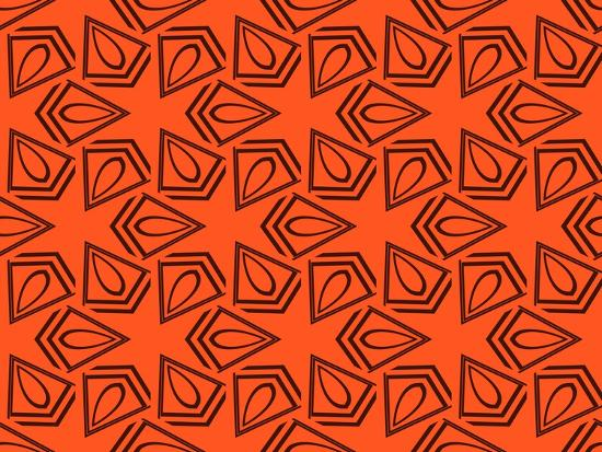Abstract Geometric Seamless Pattern. Vector. Orange-Alexander Rakov-Art Print