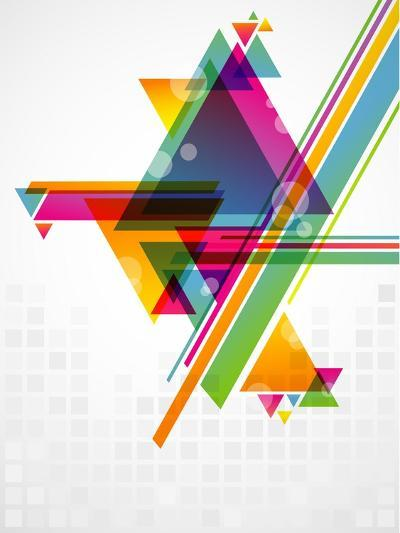 Abstract Geometric Shapes with Transparencies. AI 10.-artplay-Art Print