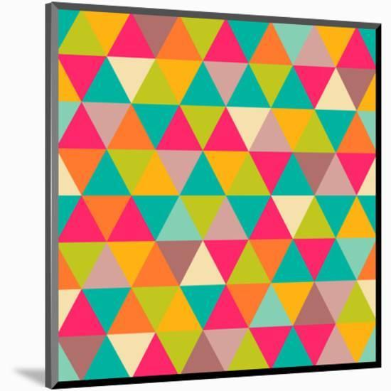 Abstract Geometric Triangle Seamless Pattern-Heizel-Mounted Print