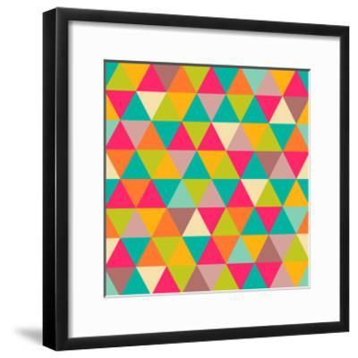 Abstract Geometric Triangle Seamless Pattern-Heizel-Framed Art Print