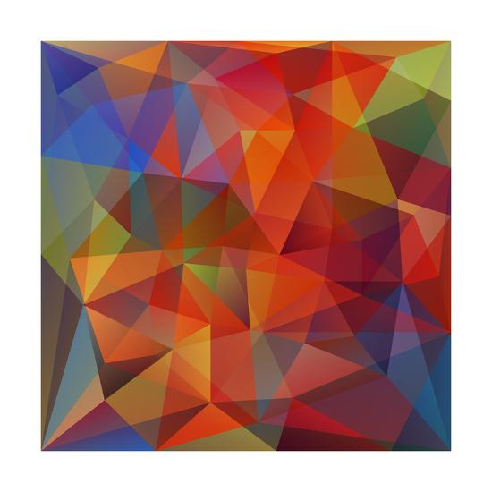 Abstract Geometrical Background-epic44-Art Print