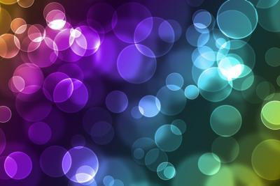 Abstract Glowing Circles-suti-Art Print